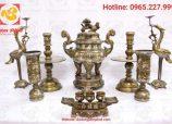 5 món đồ thờ bằng đồng không thể thiếu trên bàn thờ gia tiên