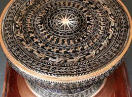 Quả trống đồng có đường kính 60cm trưng bày tại cơ quan, tổ chức đẹp tinh xảo