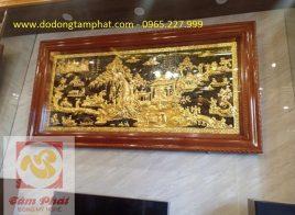 Tranh đồng quê cao cấp mạ vàng 24k kích thước 2,31m