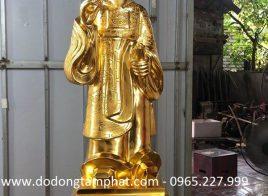 Tượng Nguyễn Trãi bằng đồng thếp vàng 9999 tại xưởng