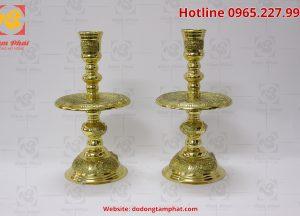 Đôi chân nến màu vàng chiều cao 50cm (2)