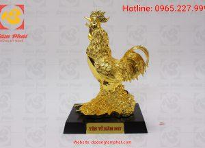 Gà trống mạ vàng cao 30 cm (2)