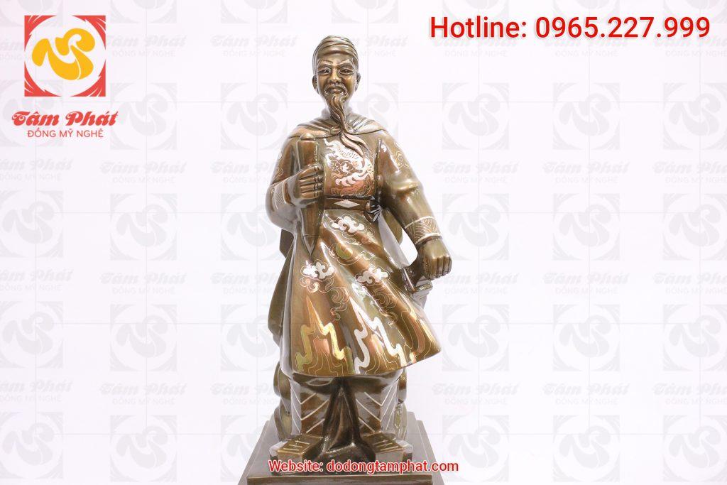 Tượng đồng Trần Quốc Tuấn cao 60 cm