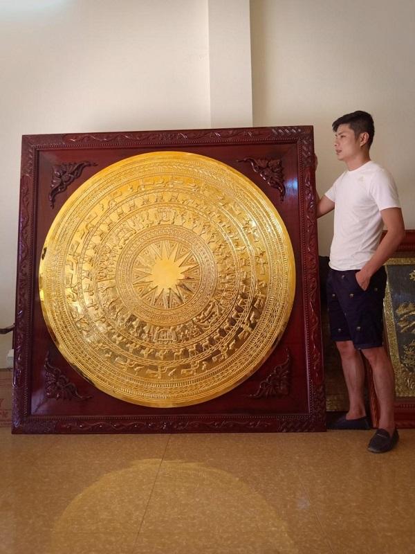 Mặt trống đồng chạm tinh xảo 1m; 1,1m; 1,2m; 1,3m; 90cm... và mạ vàng