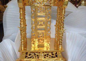 Ngai thờ bằng đồng mạ vàng cao 81cm đẹp xuất sắc