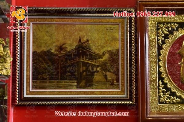 Tranh đồng chùa Một Cột đẹp cổ kính