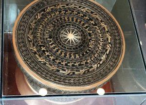 Quả trống đồng Đông Sơn màu sắc cổ điển, đường kính 50cm