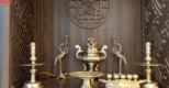 Bộ ngũ sự đồng vàng đỉnh hoa sòi – Linh thiêng, trang trọng cho không gian thờ tự