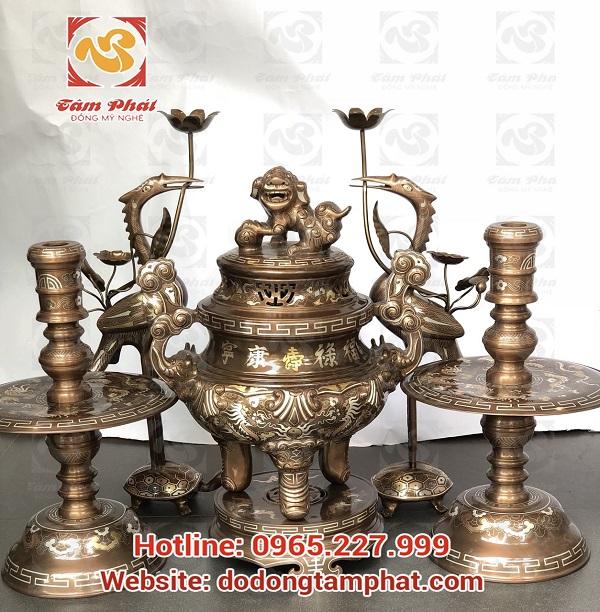 đồ đồng thờ cúng của Tâm Phát