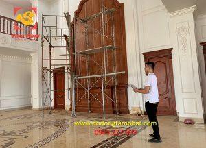 Khảo sát công trình dát vàng nội thất tại Nghệ An