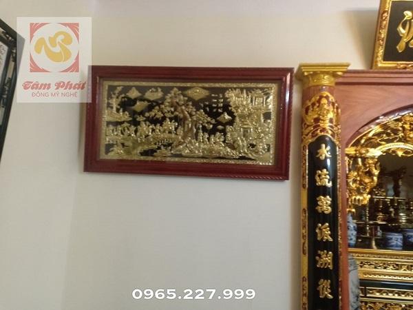 Tranh đồng Vinh Quy Bái Tổ đẹp cổ kính, trang nghiêm