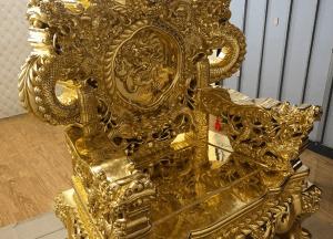 Ghế gỗ hương đỏ dát vàng 9999 đẹp sang trọng, tinh xảo