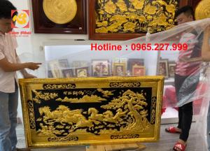 Tranh đồng Mã Đáo Thành Công 1m55x80cm khung đồng mạ vàng 24k