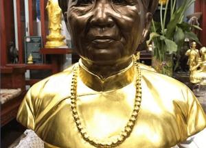 Tượng truyền thần bằng đồng mạ vàng 24k- dát vàng 9999