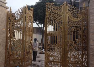 Đúc cửa cổng bằng đồng cho nhà - Biệt thự cao cấp, đẹp sang trọng