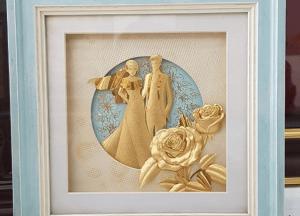 Tranh lưu niệm mạ vàng độc đáo - quà tặng nội thất ý nghĩa