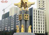 Đồ đồng Tâm Phát thi công Tượng Đài biểu tượng của Thành phố Bắc Ninh