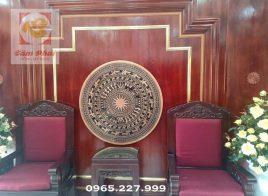 Mặt trống đồng Ngọc Lũ bằng đồng đỏ lắp đặt cho cơ quan khách hàng